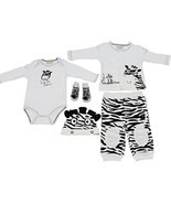 5 Piece Zebra Outfit for Baby 3-6 Months (Cardigan, Onesie, Pants,Hat, S... - $32.95