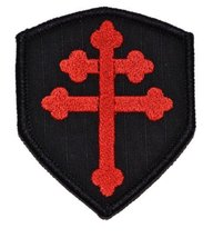 Cross of Lorraine Crusader's Cross 3x2.5 Shield Military Patch / Morale Patch... - $5.87