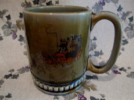 WADE Pottery Coffee Mug Cup Western STAGE COACH... - $14.95