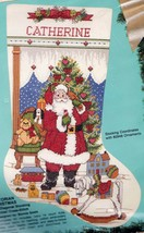 Bucilla Victorian Christmas Santa Bear Toys Cross Stitch Stocking Kit  82917 E - $47.95