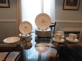 Bluet Cordella Stoneware 22 pcs Dinner Salad Plates Bowl Cups Saucers  J... - $32.67