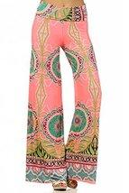 ICONOFLASH Women's Wide Leg Palazzo Pants with Foldover Waist (Pink Temptatio... - $34.64