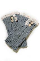 Fashion Mic Women's Knit Crochet Boot Legwarmers - Fall Style (one size, grey) - $14.84