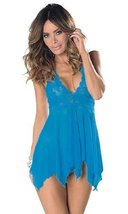 Escante Women's Blue Fairy Babydoll Lingerie (3x, Blue) [Apparel] - $36.99