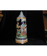 Vintage Beer Stein O Du Lieber Augustin Thorens Movement Made In Germany - $45.00