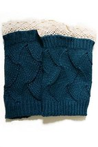Fashion Mic Women's Knit Crochet Boot Legwarmers - Waves Style (one size, for... - $14.84