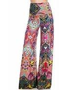 ICONOFLASH Women's Wide Leg Palazzo Pants (Coral Psychedelia, S) [Apparel] - $37.61