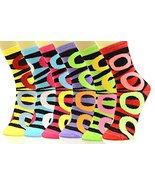 Fashion Mic Womens Soft and Cute Print Novelty Crew Socks 6 Pairs (9-11, circ... - $11.87