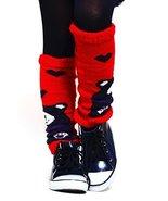 Fashion Mic Kid's Fun and Cute Legwarmers - Teddy Bear (kids one size, red) - $9.89