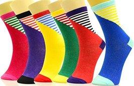 Fashion Mic Womens Soft and Cute Print Novelty Crew Socks 6 Pairs (9-11,... - $11.87