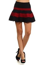 fashion MIC Women's Full Circle Skirts (One Size, Red Stripes) [Apparel] - $20.78