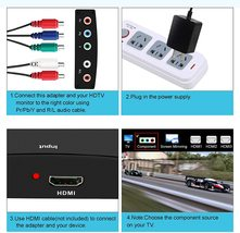 NEWCARE Component 5RCA RGB to HDMI Converter Adapter image 2