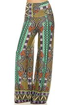 ICONOFLASH Women's Wide Leg Palazzo Pants with Foldover Waist (Renaissance, L... - $35.63