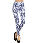 Women Fashion Leggings- Stretchy and Comfortable (Vintage Damask) [Apparel] - $16.82