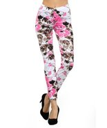 Women Fashion Leggings- Stretchy and Comfortable (Cherry Blossom) [Apparel] - $15.83