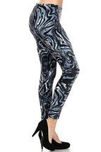 Fashion Mic Womens Colorful Print Spandex Full Length Leggings (free siz... - $15.83