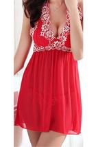 Unomatch Women Printed Underwear Sleeveless Short Printed Lingerie Set Red - $19.99