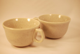 Laurel California Pottery (2) Coffee Cups Sage ... - $16.99
