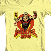 Wonder Man t shirt marvel comics retro vintage silver age yellow graphic tee image 1