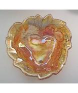 Indiana Glass Loganberry Vintage Candy Dish Bon Bon Bowl Marigold Carniv... - $12.86