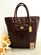 Rare Coach Bonnie Tote Ltd Ed Glazed Water Buffalo in Burgundy - Style 9... - $148.49