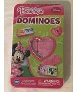 Disney Junior Minnie Mouse Bow-tique Dominoes with Game Tin New Gift - $9.99