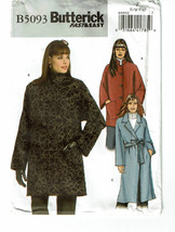Butterick 5093 Misses Very Easy Jacket Loose-Fitting in 2 Lengths with A... - $10.00