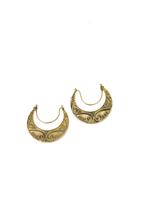 La Gana Golden Bali Semi-Hoop Earrings,Ethnic Women Earrings,Fashion Ear... - $25.00