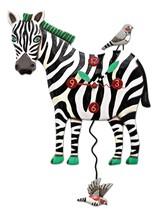 Allen Designs Zeb the Zebra Pendulum Childs Kids Whimsical Wall Clock - $54.00