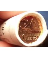 Gem Unc Original Roll (50) Greece 2007 1 Euro Cents~Ancient Athenian Trireme~F/S - €11,75 EUR