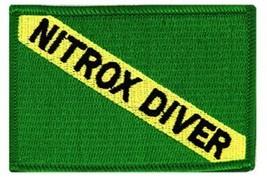 Nitrox Diver Down Flag Patch Embroidered Iron On Scuba Diving Emblem Souvenir - $4.99