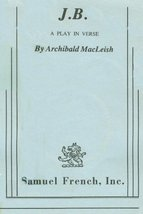 JB: A Play in Verse by MacLeish, Archibald - $29.99