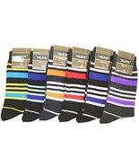 Fashion Mic Mens Cotton Blended Dress Socks 6 Pair Bundle Multiple Style... - $12.76