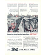 1945 New York Central Railroad cutaway picture print ad - $10.00