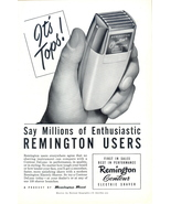 1950 Remington Contour Electric Shaver print ad - $10.00