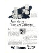 1924 Williams Shaving sticks doublecap holder top print ad - $10.00