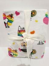 "Valentines Day Berkshire Peanuts Snoopy Rainbow Hearts Throw Blanket 50""x70"" - $39.99"