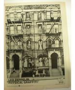 Led Zeppelin 8x10 Poster 1975 Advertising for Physical Graffiti Super RARE! - £19.62 GBP