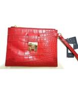 Tommy Hilfiger Turnlock Croco Wristlet Wallet, Red, One Size - $21.44
