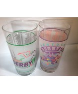 Kentucky Derby Glasses Lot of 2 Mint Julep Horse Racing Cup 1992 1994 12... - $38.61