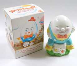 Vintage 1982 Collectible Avon Humpty Dumpty Earthenware Coin Piggy Bank ... - $12.98