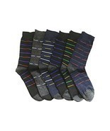 Fashion Mic Mens Cotton Blended Dress Socks 6 Pair Bundle Multiple Style... - $13.06