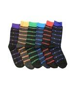 Fashion Mic Mens Cotton Blended Dress Socks 6 Pair Bundle Multiple Style... - $12.86