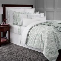 Sferra Jessia King Pillowcases Floral Mint Cotton Percale Watercolor Ita... - $84.00