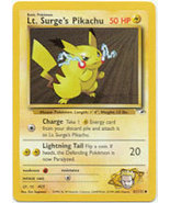 Lt. Surge's Pikachu 81/132 Common Gym Heroes Pokemon Card - $0.89