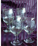 Family Crest Wine Glasses / Coat of Arms Wine Glasses SET of FOUR Engrav... - $79.99