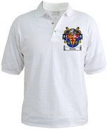 Coat of Arms / Family Crest Golf Shirts - All Names - $28.99
