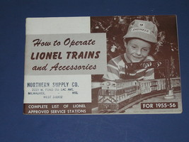 1955-56 HOW TO OPERATE LIONEL TRAINS AND ACCESSORIES - $18.15