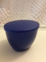 Tupperware 16 oz Dark Blue Open House Dip Bowl w/ Lid - $8.55
