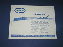 1968 LIONEL DEALER ADVANCE PROMO FLYER  - $18.15